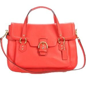 Coach Campbell Leather Satchel Bag